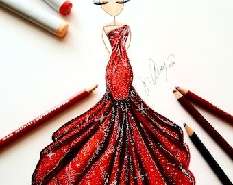 Ravishing Red Print