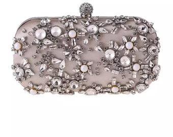 aca7ed928e Boux Jewels Multicolour Rhinestone Statement clutch bags/evening bags  -various colours