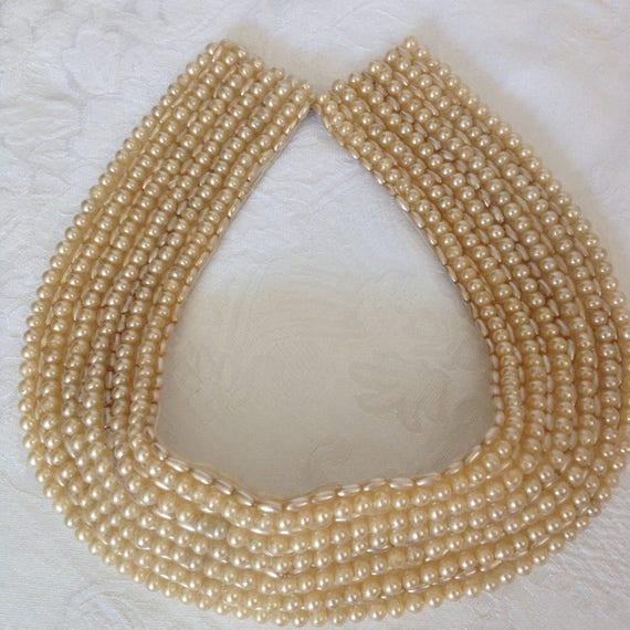 Vintage Faux Pearl Choker - image 1