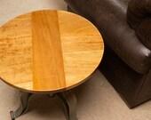 industrial Satinwood crank top table