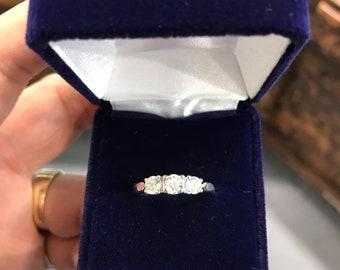 3 Stone Diamond Ring!