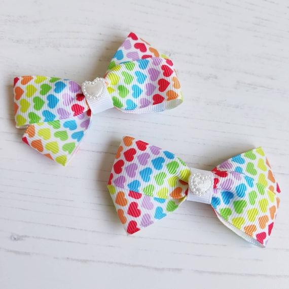 christmas free 1st class post Satin Bow Hair clip  6cm bow wedding party