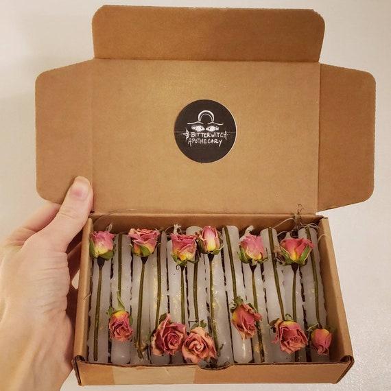 Tea Rose Anointed Ritual Candle Set