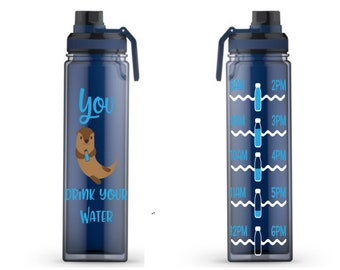 44237e7622 You Otter Drink Your Water Water Tracker, Motivational, 20oz, Water  Reminder, Otter, double wall, Handle, To go cup