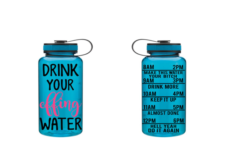 87695f660a Drink Your Effing Water Motivational Fitness Water Bottle | Etsy