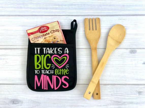 It Takes A Big Heart to Teach Little Minds Potholder Gift