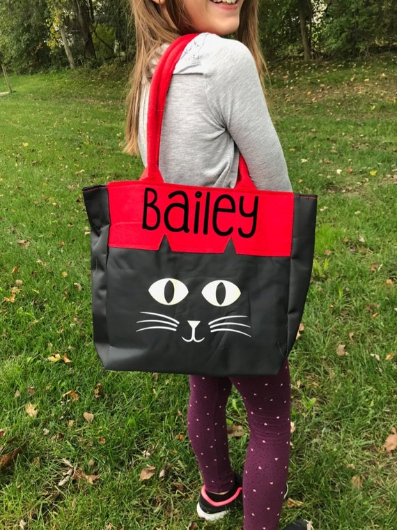Personalized Halloween Spider Canvas Tote Bag Boy