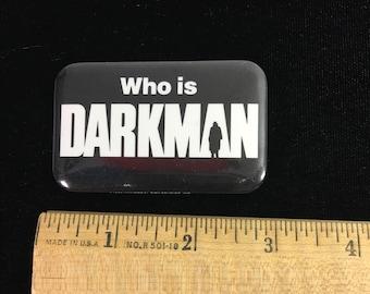 Vintage Darkman Movie Pin Back Button / vintage movie collectible / dated 1989 / Sam Raimi / Liam Neeson / Frances McDormand / Colin Freils