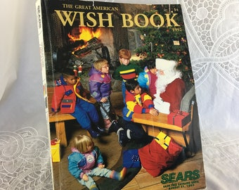 vintage 1992 sears christmas catalog the great american wish book mail order catalog toy catalog holiday gifts nostalgia - Christmas Mail Order Catalogs