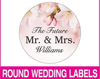 Wedding or event labels, party favor labels, address labels, thank you labels, invitation labels, round stickers, wedding stickers