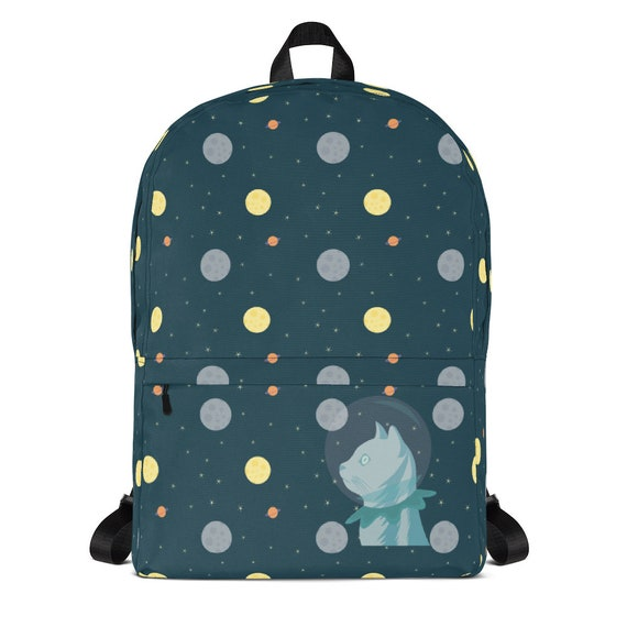 Space Backpack Small Backpack Cat Backpack Kids Backpack Etsy