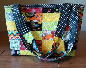 SALE! Quilted Polka Dot Purse