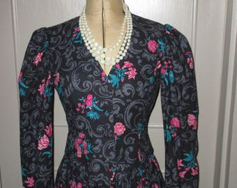 Vintage 1980s Laura Ashley Cotton Dress and Bolero Jacket