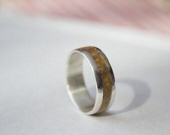 Crushed Stone Inlay Tigers Eye Ring