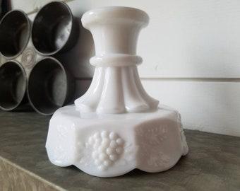 Vintage Westmoreland Paneled Grape Candle Holder