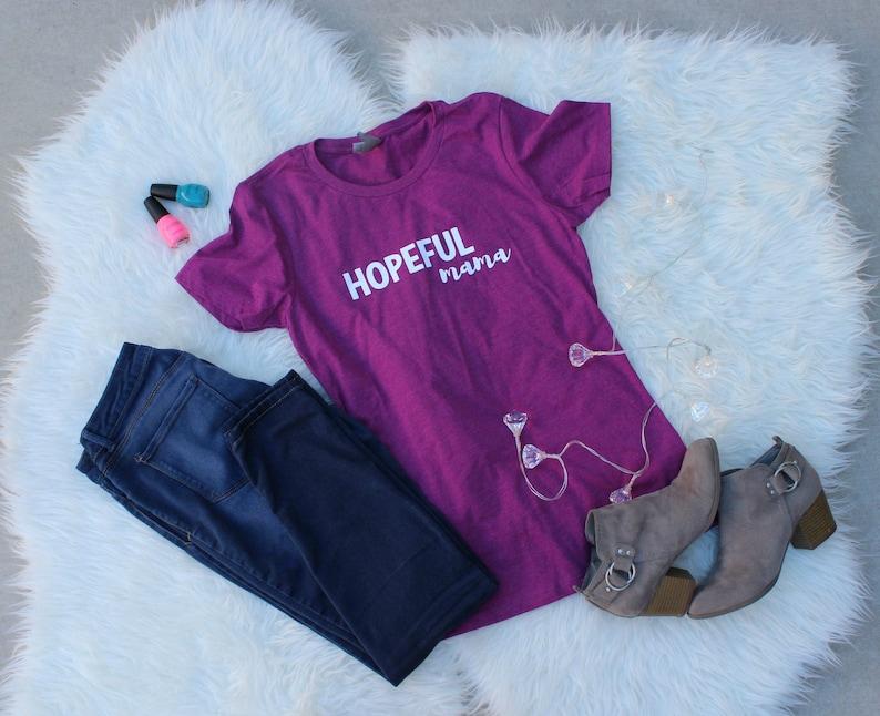 Hopeful mama shirt Mom shirt Infertility shirt IUI shirt image 0