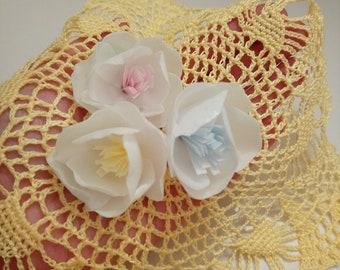 Wafer paper flower etsy 12 edible wafer paper flowers mightylinksfo