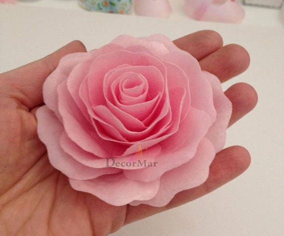3 Edible Wafer Paper Rose Etsy