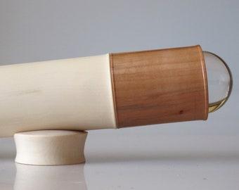 Teleidoscope in maple and pear wood. Kaleidoscope handmade OOAK.