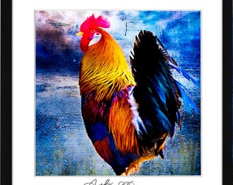 Rooster Kitchen Decor, Rooster Kitchen Art, Chicken Decor, Kitchen Chicken Decor, Rooster Art Print, Kitchen Wall Art, Farmhouse Wall Decor
