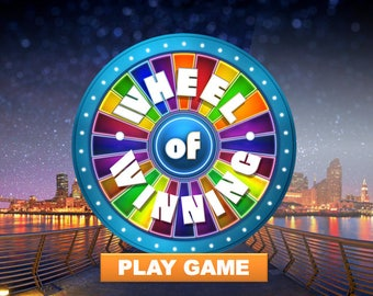 Wheel of Fortune style Customizable Powerpoint Game PC & MAC
