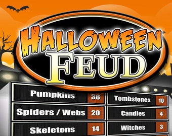 fun halloween game family feud trivia powerpoint game mac and pc compatible