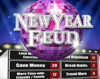 New Year's Eve Party Family Feud Trivia Powerpoint Game - Mac PC and iPad Compatible