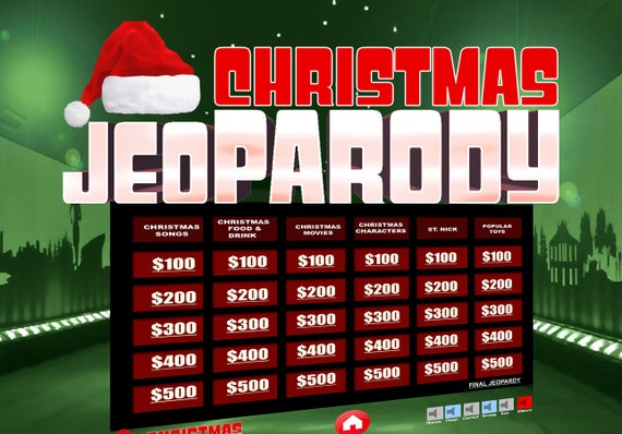 image 0 - Christmas Jeopardy Game