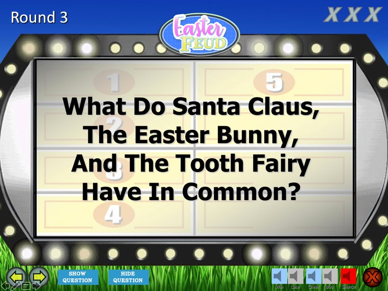 Mac PC and iPad Compatible Easter Feud Trivia Games Spring Break Fun Game Family Feud Trivia Powerpoint Game