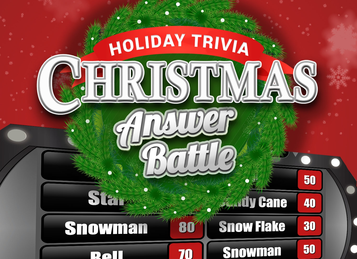 Christmas Answer Battle With Scoreboard Trivia Powerpoint Etsy