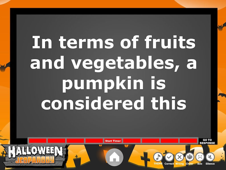 Halloween Jeopardy Trivia Powerpoint Game - Mac and PC Compatible