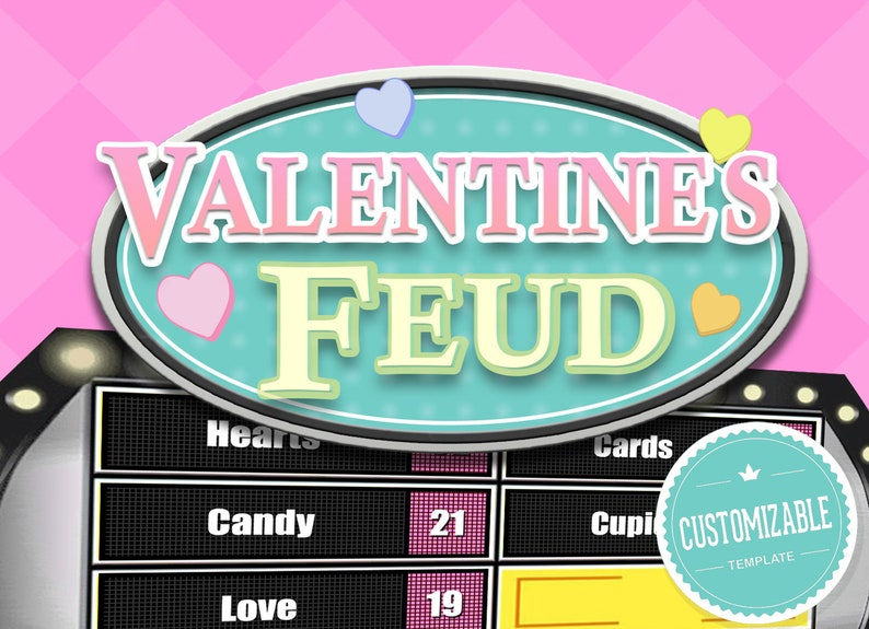 Valentine's Day Feud - Family Feud Trivia Powerpoint Game - Mac PC and iPad  Compatible - Fun Game - Trivia Games
