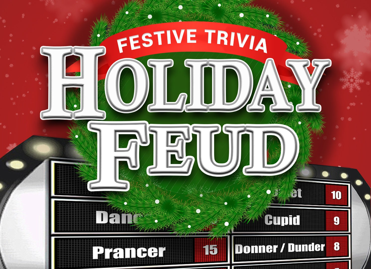 Holiday Feud - Christmas Family Feud Style Trivia Powerpoint Game - Mac,  PC, and iPad Compatible - Fun Christmas Game - Holiday Trivia Games
