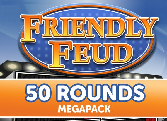 50 Rounds Customizable Friendly Feud Powerpoint Template Etsy