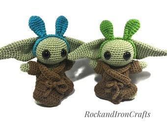 Amigurumi Bunny and Alien Bestie Set Crochet Plush Cartoon   Etsy   270x340
