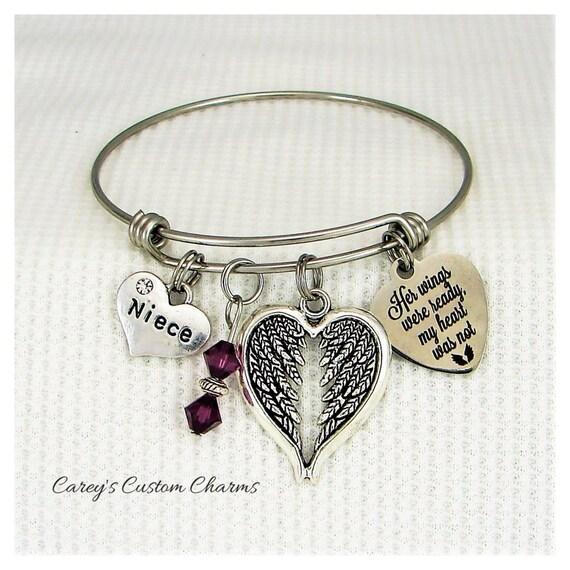 Bracelet Her Wings Were Ready My Heart Was Not Grandma Best Gift Ideas