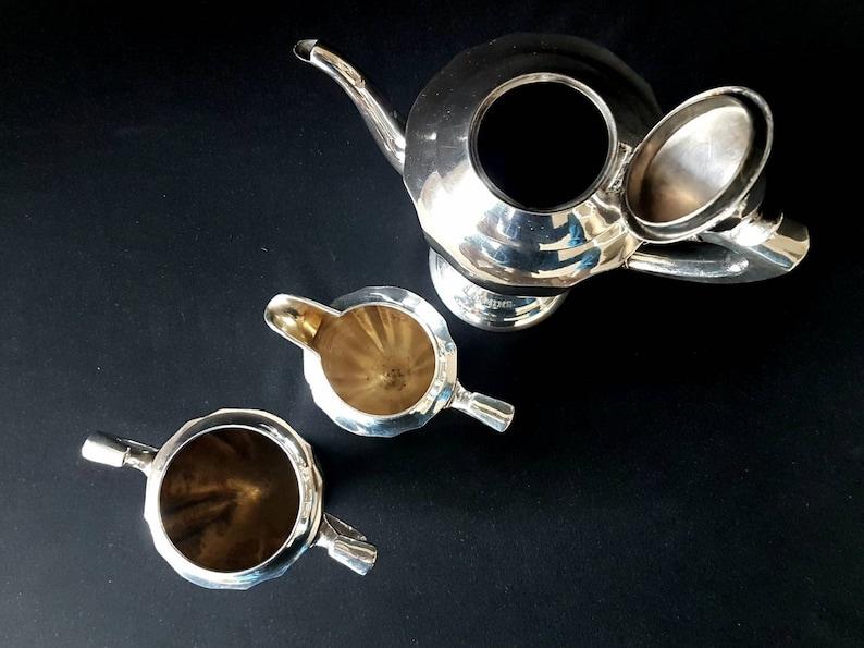 Art Deco Three Piece Silver Plate Coffee Set