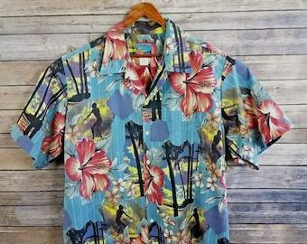 d7576029 Vtg Reyn Spooner Mens XL Hawaiian Shirt Joe Kealohas Hibiscus Cotton