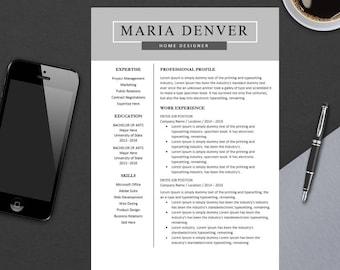 Top Resume Template for MS Word | Minimal Resume Design | Teacher CV Template Design | Best Modern CV | Instant Download | A4 Maria
