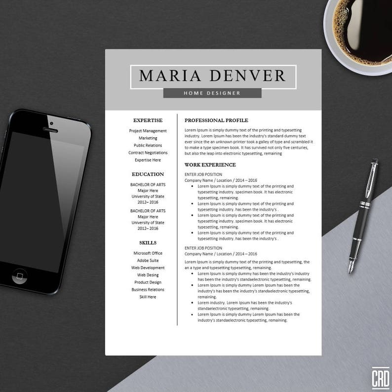 Top Resume Template for MS Word | Minimal Resume Design | Teacher CV  Template Design | Best Modern CV | Instant Download | A4 Maria