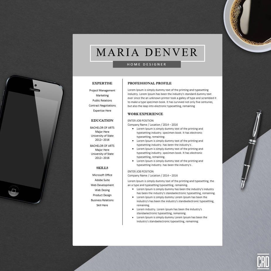top resume template for ms word minimal resume design