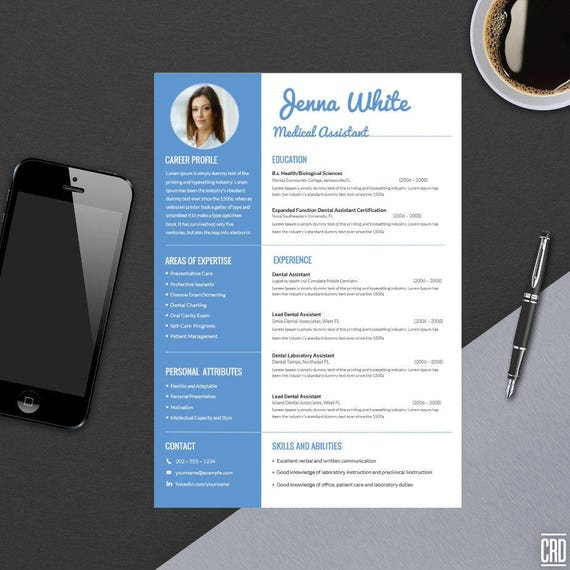 Minimal Professional Resume Template for Word Modern Resume | Etsy
