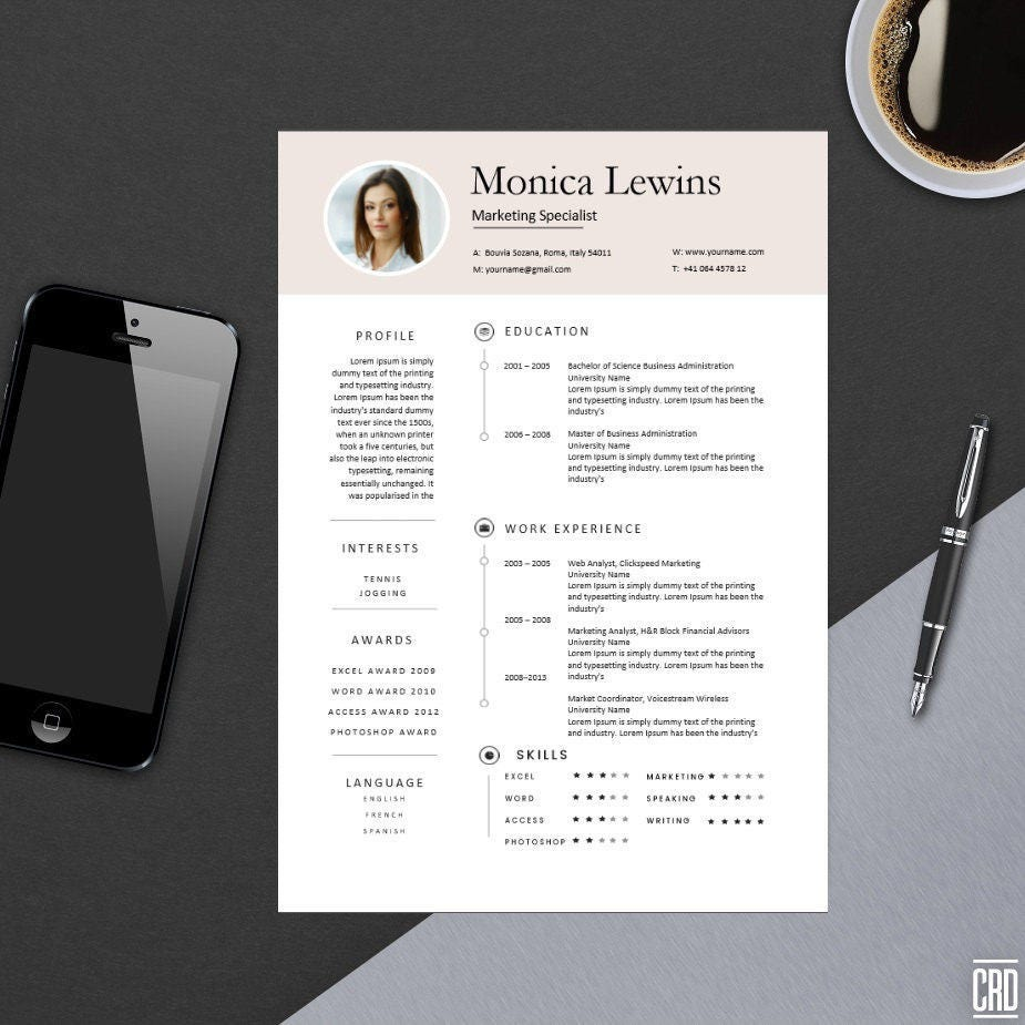 clean professional resume template for ms word modern resume