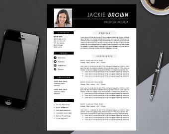 Resume Template with Cover Letter | CV Template | MS Word Design | Instant Digital Download | Teacher Jenna Brown