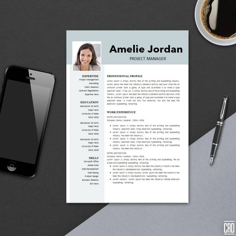 resume template 3 page for ms word cv template example