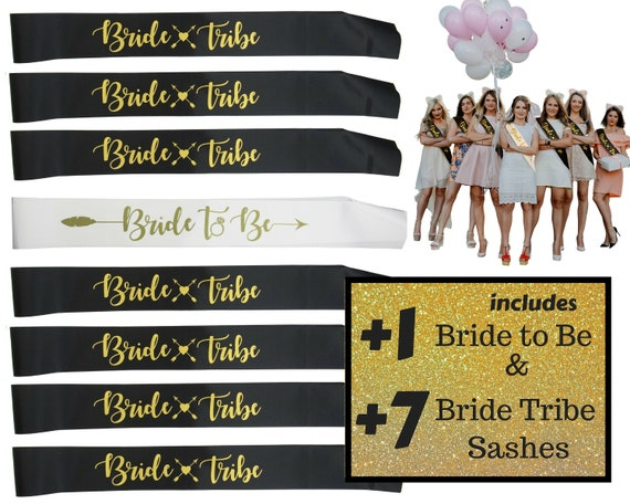 8 Sashes Team Bride Sash Set