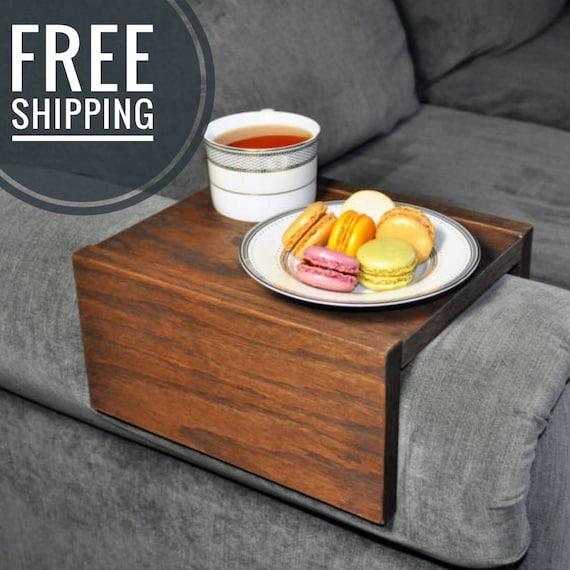 Sofa Armrest Table Custom Couch Armrest Chair Caddy Wood Etsy
