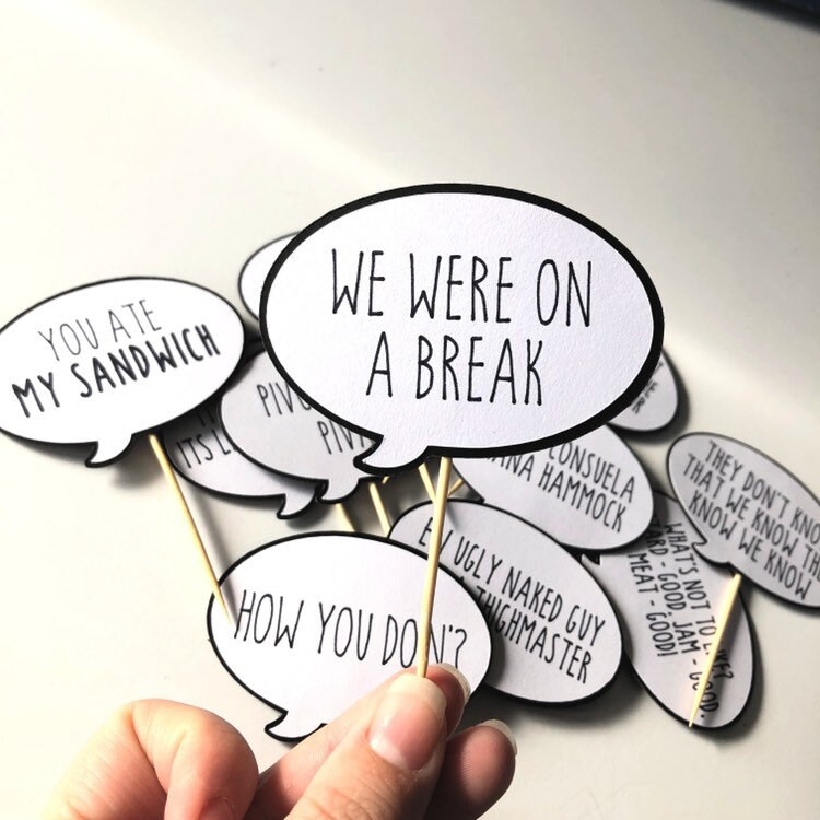Friends Quotes Tv One Liners: 12 Friends TV Show Cupcake Toppers Friends Quotes Friends