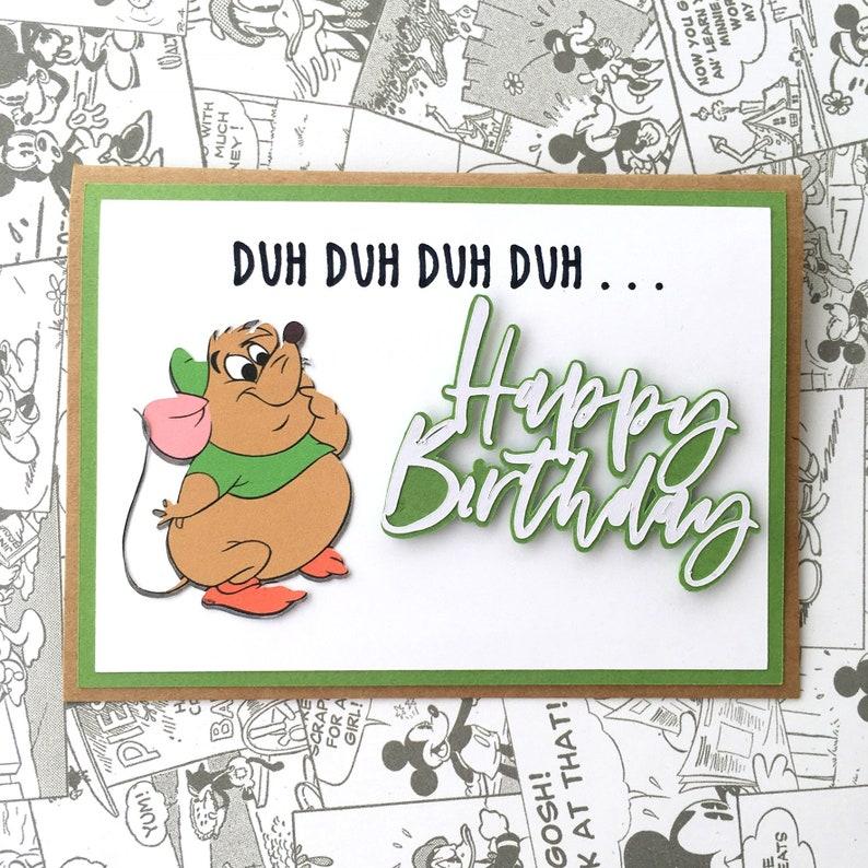 Cinderella Birthday Card Disney Gus Duh