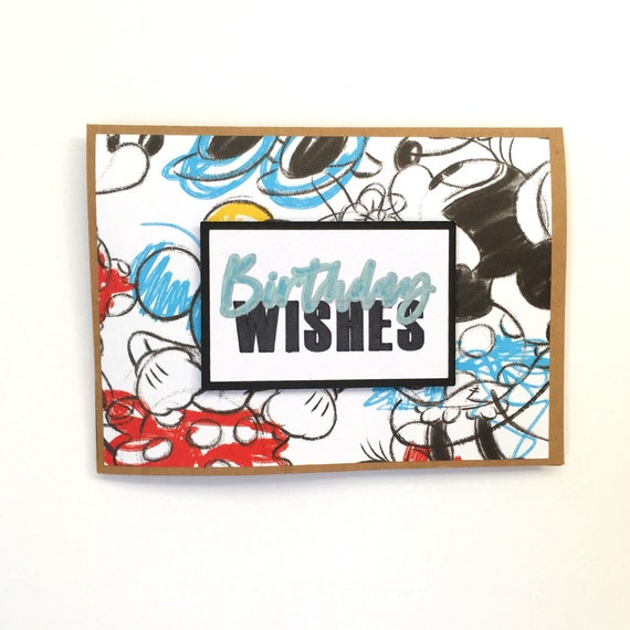 Mickey And Minnie Mouse Birthday Card Disney